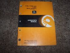 John Deere 770B 770BH 772BH Motor Grader Owner Operator Maintenance Manual
