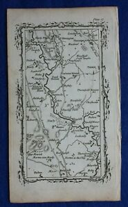 Rare antique road map YORKSHIRE, TOPCLIFFE, RIVER SWALE, Mostyn Armstrong, 1776