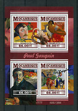 Mozambique 2015 MNH Paul Gaugin 4v M/S Paintings Self-Portrait Halo Snake