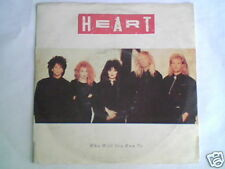 "HEART Who will you run to 7"" ITALY MISPRINT ON LABEL"