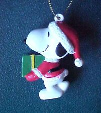 Peanuts Snoopy as Santa with Gift Christmas Ornament