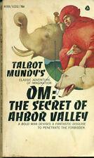 OM: THE SECRET OF AHBOR VALLEY by Talbot Mundy (1967) Avon fantasy pb 1st