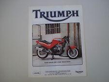 advertising Pubblicità 1992 MOTO TRIUMPH QUADRANT 1200 4 CILINDRI