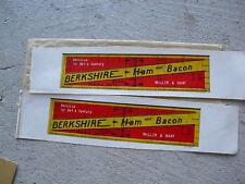 Vintage Oo Scale Boxcar Sides Berkshire Ham & Bacon
