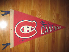 "Dated 1970 MONTREAL CANADIENS 30"" Pennant w/ Tassels"