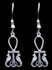 LOOK Cobra Horus Earring Egyptian ANKH Sterling Silver Egypt