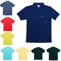 Junior Boys Lacoste Cotton Short Sleeve Polo Shirt in Various Colours