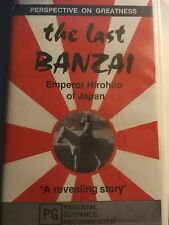 VHS VIDEO-THE LAST BANZAI-Emperor Hirohito of Japan, Perspective On Greatness