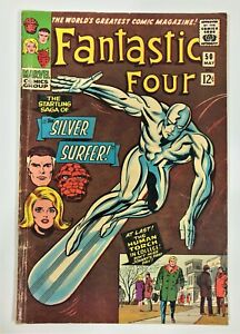 FANTASTIC FOUR # 50 THE STARTING SAGA OF THE SILVER SURFER 1966