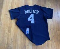 Minnesota Twins Vintage 90's Paul Molitor Majestic Jersey Stitched Mens L EUC