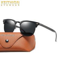 KEITHION Brand Designer HD Vision Aluminum Polarized Men Womens Sunglasses Uv400