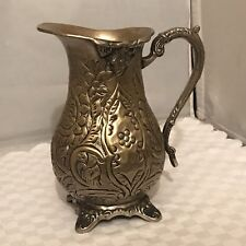 vintage Hand Carved Metal Water Pitcher