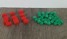 Monopoly Green Houses and Red Hotels Plastic Replacement