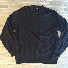 Silk Cashmere Crewneck Sweater Gray Sz Lg Men's Soft Light Warm Dockers Luxury