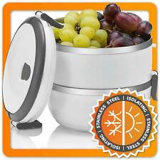 Lunchbox Frischhaltedose Thermo Brotdose Brotzeitbox Essensbehälter stapelbar