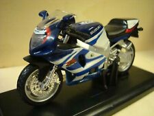 Suzuki GSX R 750 Blue White Red 1:18 Maisto