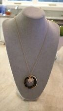 Bnwt Statement Long Tortoise Resin Pendant Necklace with Bee Statement Necklace