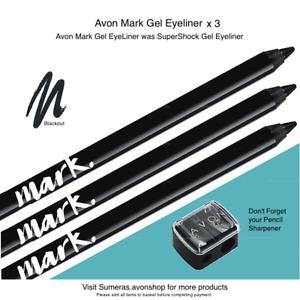 Avon MARK GEL PENCIL ~Blackout was SuperShock GEL Pick Qty 1~2~3 Free P&P