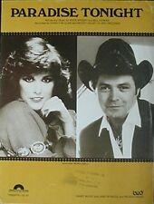 MICKEY GILLEY & CHARLY McCLAIN SHEET MUSIC, 1983 (PARADISE TONIGHT