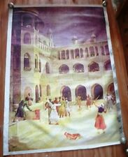 Vintage Big Wall Size Print on Canvas of A War in Fort Among Sikh People India