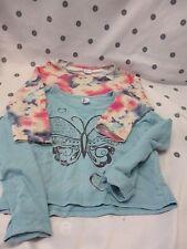Girls 2 x  Size 10 Sweat Shirts Long Sleeve Crop top Jumper