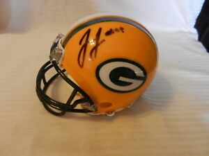 James Jones #89 Green Bay Packers Signed Mini Helmet