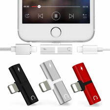 2 IN 1 Adapter For Apple iPhone X/7/8 Plus Splitter Audio Earphone Charger Dual