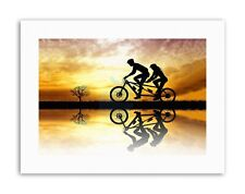 MOCK UP SILHOUETTE SUNSET TANDEM BICYCLE Canvas art Prints