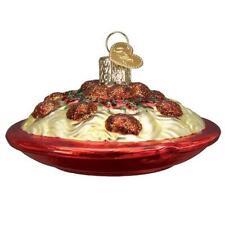Spaghetti & Meatballs Old World Christmas Glass Italian Food Ornament Nwt 32447