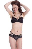 underwear for women sexy bra set lace thin see through bra and panty set soutien