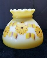 """Vintage Gone with the Wind Hurricane Glass Lamp Light Chimney Shade Floral 8"""""""
