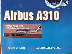1/200 HOBBYMASTER HL6007 DELTA AIRBUS A310-324, N835AB, 1994 W / STAND