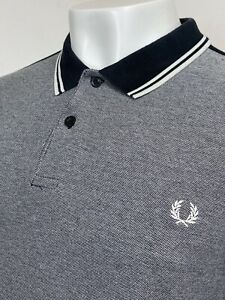 Fred Perry   Colour Block Pique Polo Shirt XLXXL (Black) Mod Scooter 60s Ska