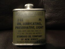 Standard Oil Military Lubricating Tin 2oz can - Original -Vintage