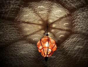 Home Decor Moroccan Lamp Pendant Metal Ceiling Light Hanging Lantern Lamp