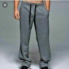 LULULEMON Men's Fleece Lined Cotton Blend Sweat Pants Heather Gray Size XL