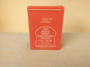 Vintage Benjamin Sheridan .20 Caliber Pellets for Air Rifles
