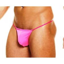 NEW Men's Shiny Yellow or Pink Thong G-String Underwear S, M, L or XL