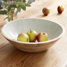 Large Natural Wooden Display Bowl