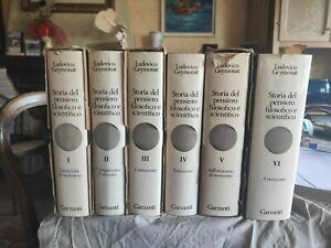 Ludovico Geymonat, storia del pensiero filosofico e scientifico, garzanti, 6 vol