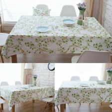 Dining Room Table Cover Flower Bird Pattern Tablecloth Cotton Kitchen Home Decor