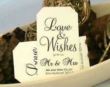 LOVE AND WISHES FOR THE NEW MR AND MRS - PERSONALISED, WISH TREE/JAR TAGS