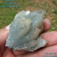 145 grams  REALLY BLUE BARITE Crystal Cluster Cartersville Georgia Paga Mine