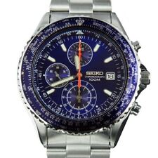 SND255P1 SND255P SND255 Seiko Quartz Flightmaster Blue Dial Male Analog Watch
