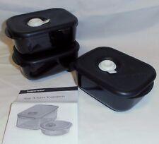 BNIP TUPPERWARE black Heat N Eat Rectangle Mini Set