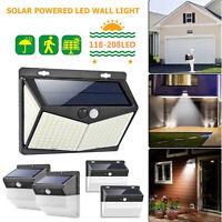 118-208LED Énergie Solaire Détecteur de Mouvement Pir Mur Extérieur Lampe Jardin