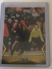 D.J. Moore 2018 Leaf Draft Gold Rookie Card (#14)