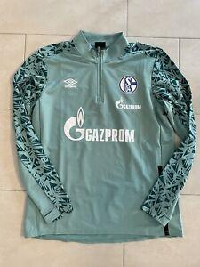 FC Schalke 04 Zipper Pullover 2021 Gr.XL Matchworn