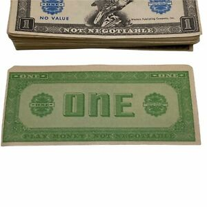 Vintage 1960's Play Paper Money $1 to 100,000 Whitman Publishing Company