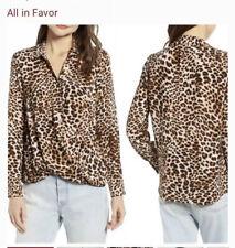 All In Favor Leopard Blouse